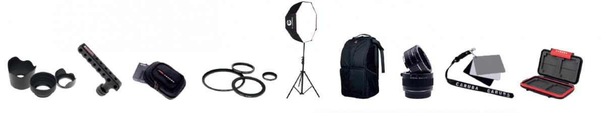 Carubas Produkte: vom Zubehör bis zur Studioausrüstung